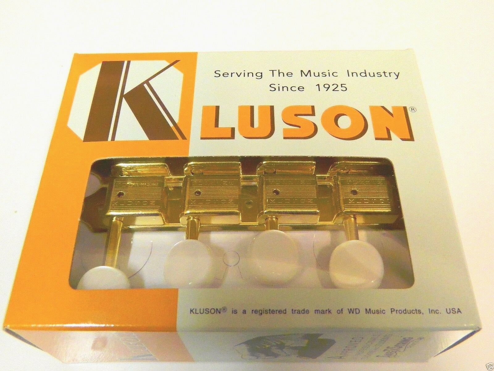 KLUSON SUPREME KTSM-F-GP F TYPE MANDOLIN TUNERS IN Gold W  PEARL BUTTONS
