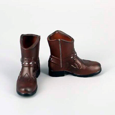 1//6 Brown High Boots for 12 inch Enterbay Hot Toys TTL DID Action Figures