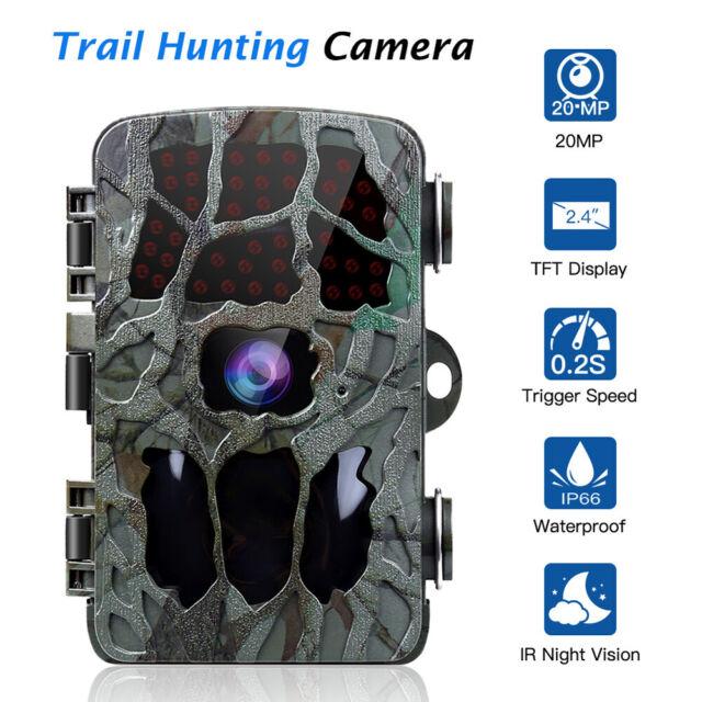 HD 1080P 20MP Hunting Camera Farm Scouting Home Wildlife IR Waterproof No Hidden