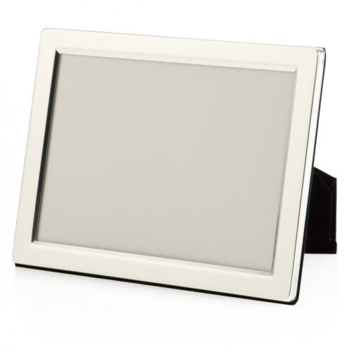 """Engraved Custom Engraved Personalised 7/"""" X 5/"""" Silver Photo Frame"""