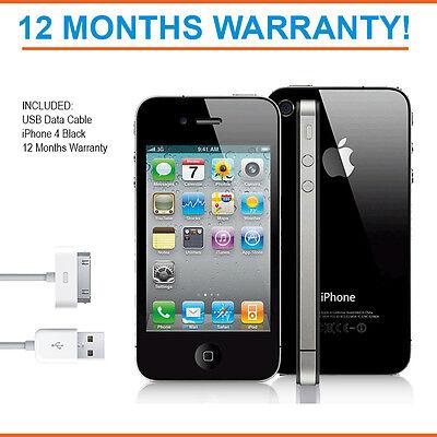 Apple iPhone 4 8GB - Black - Factory Unlocked - Good Condition