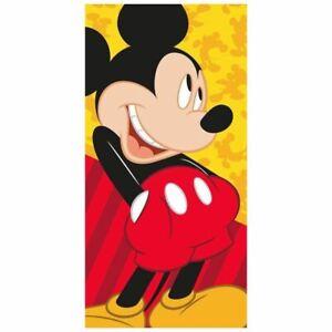 Mickey-Mouse-Serviette-Bain-Plage-Coton-Enfants-140cm-x-70cm