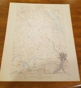 Details about 1913 US Geological Survey Topography Map MAINE 20x16.5  Penobscot County, Bangor