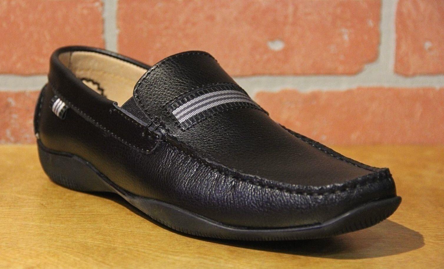Salo New York Men's Slip On Black Soft Leather Stylish Moccasins TZ7296-16