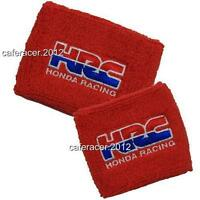 Hrc Honda Brake/clutch Reservoir Socks Fluid Tank Cover Cbr 600rr 1000rr Red Set