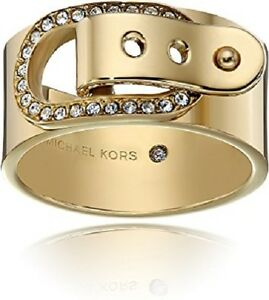 Michael-Kors-Buckle-City-Scape-Pave-Crystal-Gold-Ring-SIZE-6-MKJ4638710
