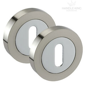 2 x Standard Keyhole Escutcheon 1 Pair POLISHED Stainless Steel