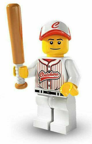 Baseball Player Retired NEW Lego Minifigure Series 3-8803 Rare