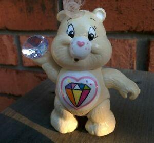 Vintage-1983-SPARKLE-HEART-Poseable-CARE-BEARS-Figure-Kenner-3-034-Figure-White