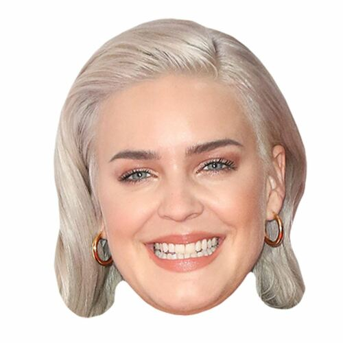 Card Face and Fancy Dress Mask Anne-Marie Celebrity Mask