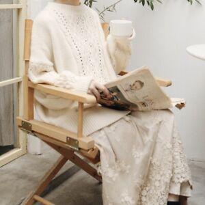 Détails sur Pull irlandais laine ajouré Mori retro ancien Shabby chic tricot vintage boheme