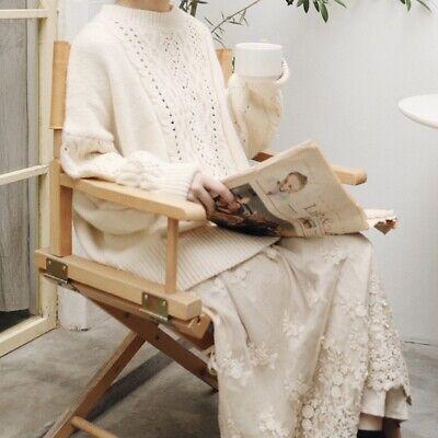 Gilet pull laine volant dentelle Mori retro ancien Shabby chic tricot boheme