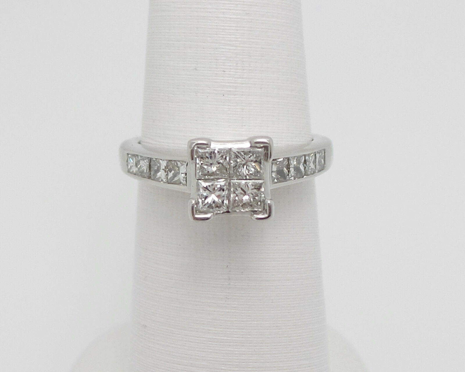 ZALES 1.50CT PRINCESS DIAMOND SOLITAIRE ENGAGEMENT WEDDING RING 14K WHITE gold