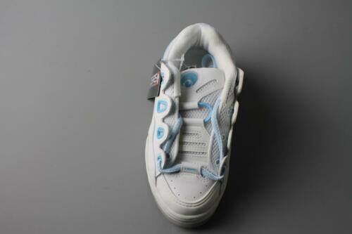 OSIRIS D3 KIDS WHITE LEATHER OSIRIS SHOES WITH LIGHT BLUE LACES LOOP