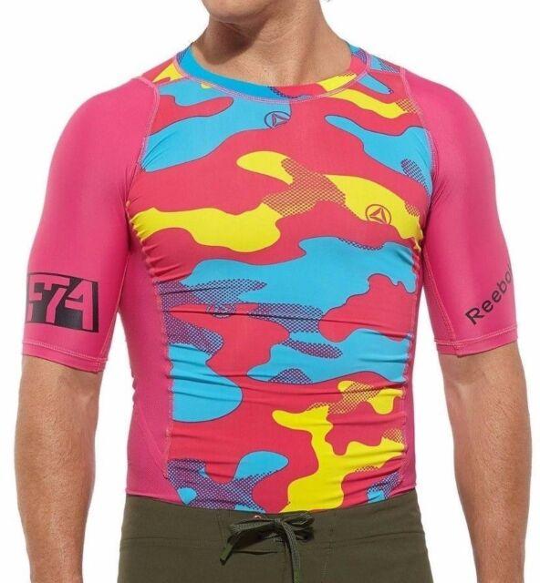 be93de40b9ad Reebok Men s Crossfit Control Short Sleeve Camo Print Compression Shirt -  NWT