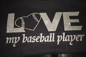 Custom glitter baseball heart  Personalized With #Spirit wear baseball mom