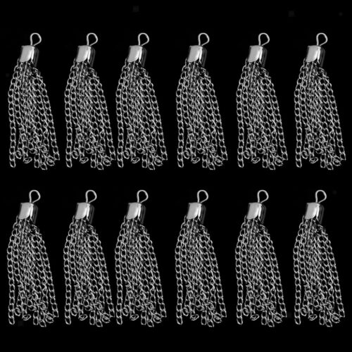 24pcs Silver Tassel Chain Pendants Charms Findings Jewelry DIY Making Crafts