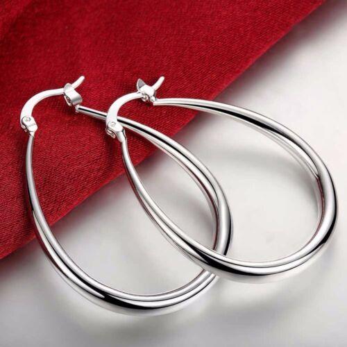 Chaussures Femme 925 Argent élégant U en forme de boucle d/'oreille Fashion Jewelry Solid Boucles d/'oreilles Nouveau