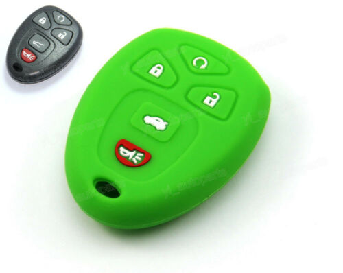 Green Silicone Case Cover For Buick Chevy Pontiac Remote Smart Key 5 Button G5GR