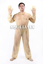 Man Maid Rubber Latex Suit with Ruffle Collar, Loose Fit Bodysuit