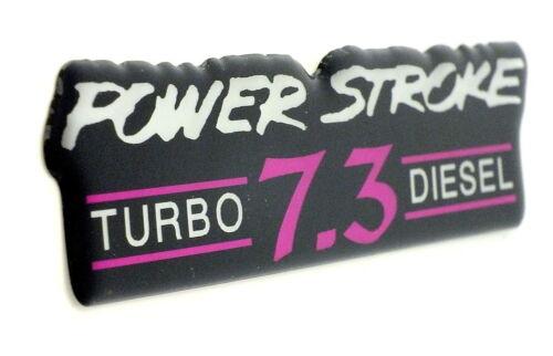 POWERSTROKE 7.3 TD EMBLEM MAGENTA//BLACK SATIN CHROME