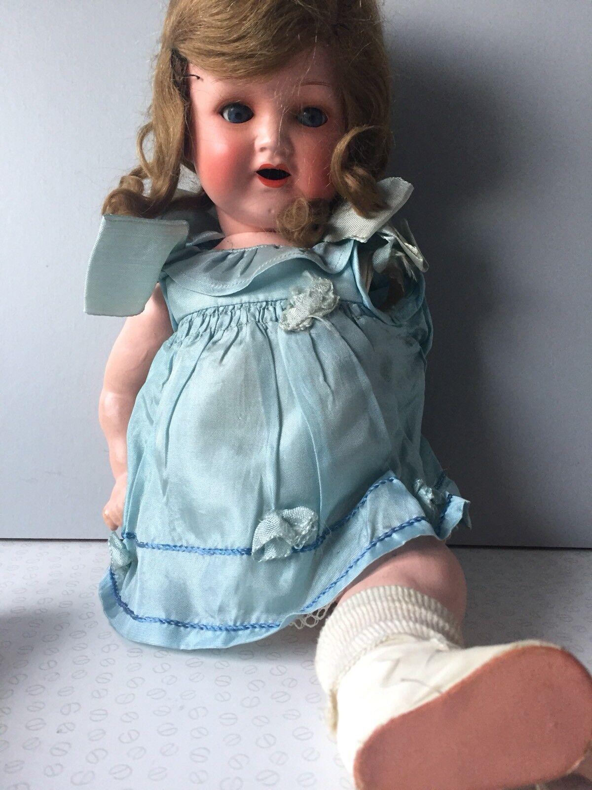 Antico solco koppeisdorf 342.4 Bambola 41cm con Bisque HEAD & Composizione Corpo