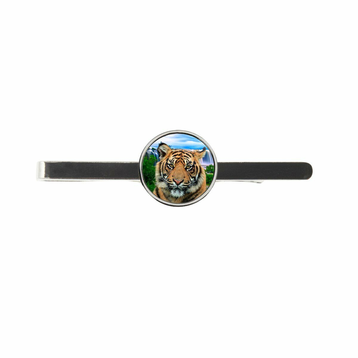 Tiger Waterfall Mens Tie Slide Ideal Birthday Wedding Father Day Gift C570