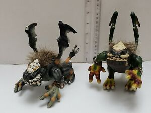 Mega-Bloks-Dragons-Fire-and-Ice-DRAGON-BEAST-Action-Figure-Hairy-Lot-of-2