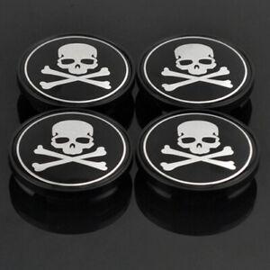 4x-60mm-Piratenflagge-Nabendeckel-Felgendeckel-Nabenkappen-Jolly-Roger