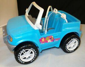 RARE-Mattel-Barbie-1999-Jeep-Wrangler-Beach-Cruiser-Blue