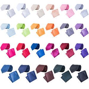 Korntex-Krawatte-klassisch-mit-Einstecktuch-Krawattenset-Business
