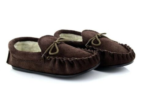Mokkers Boys BS183 Sheridan Leather Moccasin Slippers