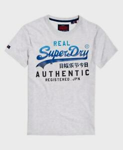 Details about  /SUPER DRY Size L Grey Embossed SuperDry Athletics T-Shirt Men/'s