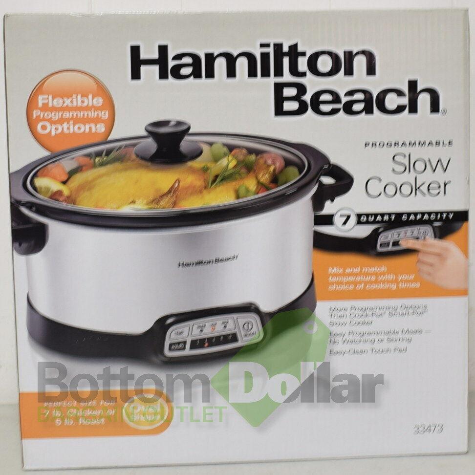 Hamilton Beach 33473 Touch Pad programmable 7 Qt Autocuiseur Acier Inoxydable