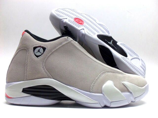 9371a6921677 Mens Air Jordan 14 XIV Retro Desert Sand Black White Infrared 23 ...