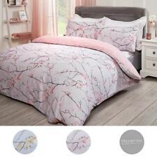 Dreamscene Spring Blossoms Duvet Cover with Pillowcases Bedding Set Blush Ochre