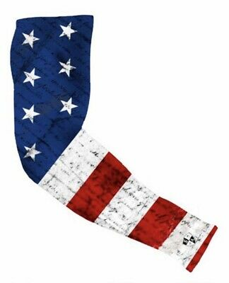 SA SINGLE ARM SHIELD™WHITEOUT AMERICAN FLAG SA Co