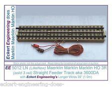 "EE 5012 LN LikeNew Marklin HO 3 Rail Straight Feeder Track aka 3600DA 39""Wire"