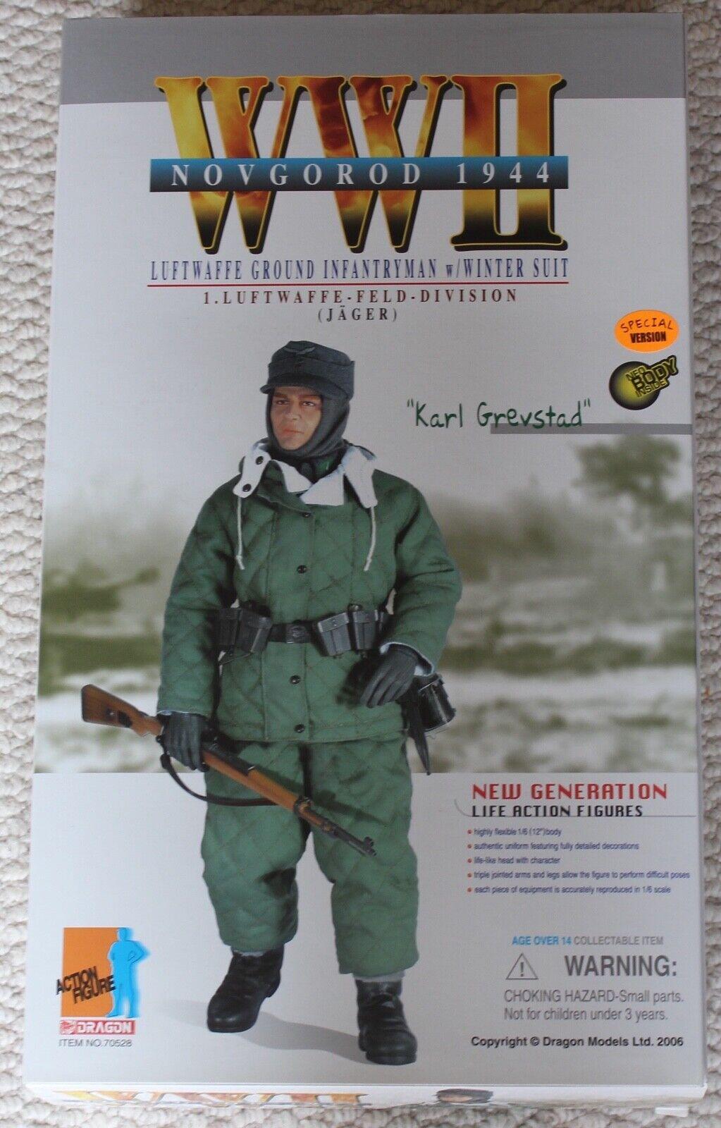 Dragon Acción Figura ww11 alemán Karl grevstad 1 6 12  70528 hizo Cyber Hot Juguete