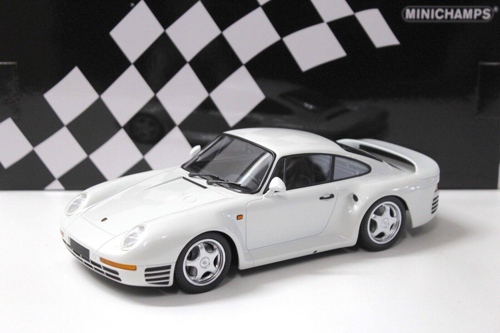 1 18 Minichamps Porsche 959 Coupé blanc New chez Premium-modelcars
