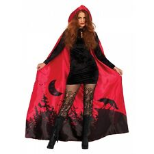 Little Red Riding Hood Cape Adult Halloween Costume Cloak Fancy Dress