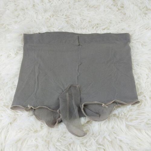 Sissy Mens Sheer Underpants Boxer Briefs Penis Sheath Underwear Glossy Pantyhose