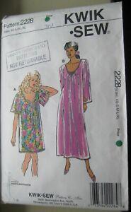 Kwik-Sew-2228-Pullover-Loose-Dress-Muumuu-Sewing-Pattern-Cut-Size-XS-S-M-L-XL