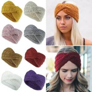 Women Winter Ear Warmer Headwrap Fashion Crochet Headband Knit Flower Hairband
