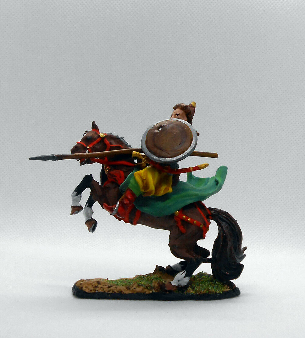 Tin soldiers painted 54mm, Equestrian Mongol warrior, 13th 13th 13th century. b6c