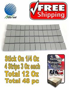 4-x-Self-Adhesive-Car-Truck-Tire-Wheel-Balancing-Weights-Strips-3-oz-84g-48-pc