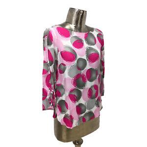 Barbara Lebek Top T-Shirt Blouse UK 12 (EU 40) NEW Pink Women's RRP £49