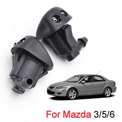 2x For Mazda 3 6 Mazda3 Tribute Fluid Front Windshield Wiper Washer Nozzle Jet