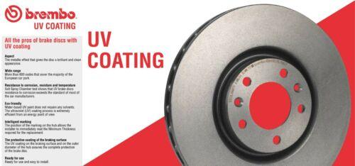 For VW Touareg Pair Set of Front Disc Brake Rotors PVT UV Coated 330mm Brembo