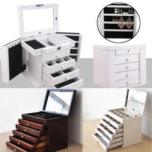 Large-Jewellery-Box-Wooden-Jewelry-Organiser-Storage-Display-Case-4-5-Drawers